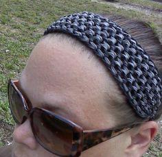 Double dragon scale loom band headband