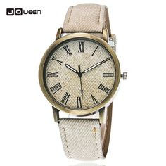 Cheap masculino, Buy Quality masculinos relogios directly from China masculino watch Suppliers: CAY Fashion Casual Womens Mens Quartz Wristwatches Blue Denim Rome Literal Bronze Simple Design Cowboy Watches Relogio Masculino Mens Sport Watches, Watches For Men, Women's Watches, Wrist Watches, Cowboys Watch, Casual Watches, Fashion Watches, Bracelet Watch, Leather