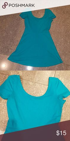 Flirty Forever 21 Turquoise dress No Flaws.  Like New. Accessorize with cute belt and sandals. Forever 21 Dresses Mini