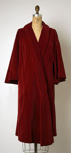 Evening coat by House of Chanel ca 1920s