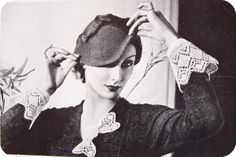 The epitome of a well accessorized woman  from  Needlewoman magazine, 1935