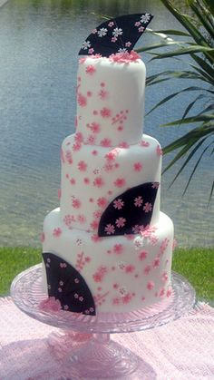 Pink Blossom wedding cake by sharoncakes, via Flickr