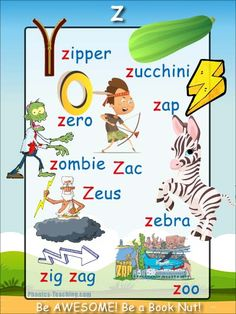 z words - z sound Phonics Poster - FREE & PRINTABLE - Perfect for phonics practice, auditory discrimination, spelling, Word Walls & Home Reading Practice. Abc Activities, Language Activities, Kindergarten Activities, English Phonics, English Vocabulary, Teaching English, Phonics Chart, Phonics Blends, Phonics Reading