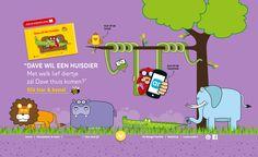Dave wil een huisdier. Grappig en leerzaam interactief leesboekje,. Laat de dieren tot leven komen met de Layar App. http://www.debengelfamilie.nl/#page-4