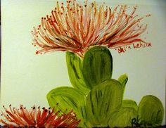 Hand painted Greeting Cards by Rebecca Kouchit, Ohi'a Lehua, Kauai, Hawaii, stroy of Pele