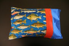 Fish Travel Pillowcase by RusticRanchHands on Etsy