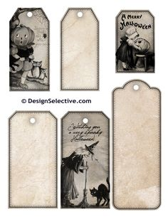Free Printable Vintage Halloween Tags