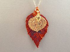 Aspen Leaf Necklace Personalized Necklace by impressionsaremade, $44.00