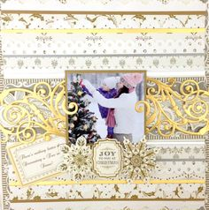 Scrapbook layout using Anna Griffin paper and embellishments