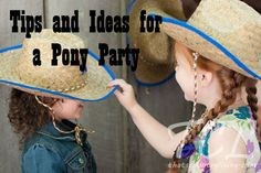 LOTS AND LOTS of Tips, DIY tutorials and Ideas for a Pony Party
