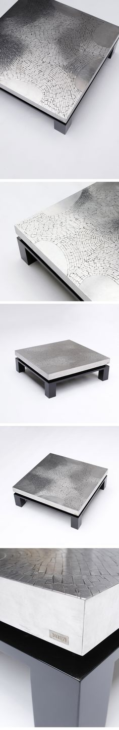 Square, Modernist, Cocktail, Table, Fernand Dresse, 1970
