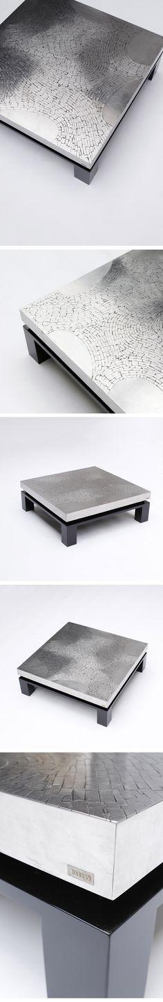Square, Modernist, Cocktail, Table, Fernand Dresse, 1970