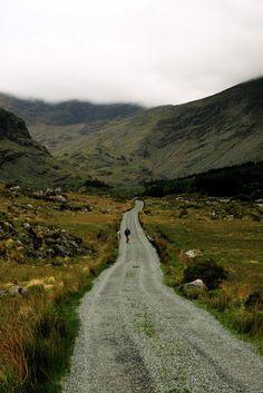 gravel road, ireland