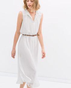 Zara dress and skinny belt