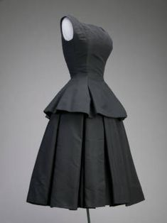 Cocktail Dress, Christian Dior, ca. 1954, French, silk faille