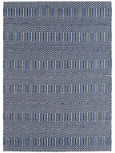 With a simple geometric inspired weave, our deep blue rug will introduce a pop of colour to your home.