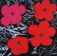 Giclee Print: Flowers (Red), 1964 by Andy Warhol : Andy Warhol Flowers, Art Andy Warhol, Andy Warhol Museum, Edvard Munch, Wassily Kandinsky, Gustav Klimt, Rembrandt, Pablo Picasso, Ariel