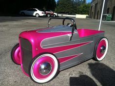 Custom Hot Rod Pedal Car. I think my granddaughters need one :)