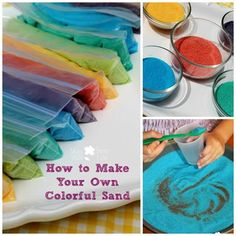 HOW TO MAKE COLORFUL SAND