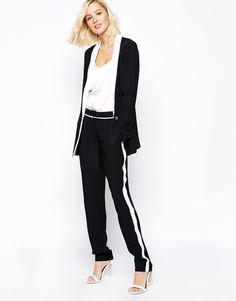 Gestuz Adelynn Pants with Contrast Stripe