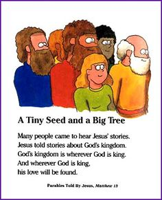 Jesus Parable (Mustard Seed) - Kids Korner - BibleWise