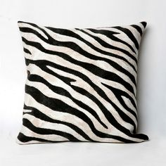 Looking to get a little wild? Give in to your animal instinct with this zebra print throw pillow from famed textile artist Liora Manne. Far from tame, this wonderfully soft pillow is durable enough for indoor-outdoor use. Black Pillows, Soft Pillows, Outdoor Throw Pillows, Zebra Print, Animal Print Rug, Textile Artists, At Home Store, Throw Pillow Sets, Indoor Outdoor