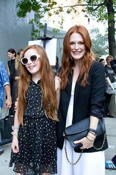 Julianne Moore & her mini-me at Fashion Week