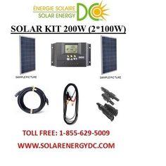 Solar Panel KIT Panneau Solaire 200W 200 Watt (2 * 100 W) Poly 12V RV VR CABIN