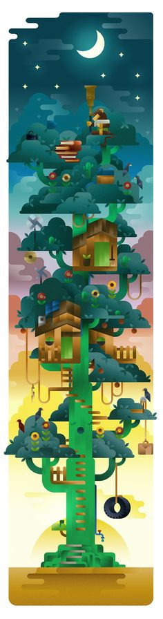 #ILLUSTRATION https://www.behance.net/gallery/19804041/Monkey-cactus-tree