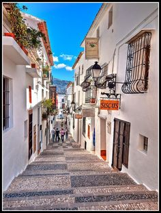 Callejones de Altea Sant Blai, France I have a picture that looks almost exactly the same but from Spain. Places Around The World, Oh The Places You'll Go, Great Places, Places To Travel, Places To Visit, Around The Worlds, Need A Vacation, Dream Vacations, Vacation Spots