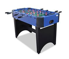 Gamesson Rom II Freistehender Tischfu�ball-Tisch, schwarz/blau, 4�Beine
