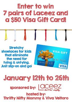 $50 Visa gift card & 7 pairs of Laceez Giveaway