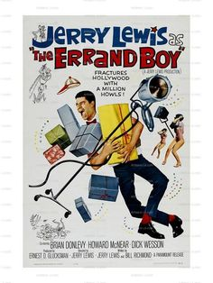 The Errand Boy Jerry Lewis 1961 Movie Poster Image Download Classic Movie Prints No 785. $1.00, via Etsy.
