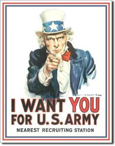 """I Want You for the U. Army by James Montgomery Flagg created this recruiting poster showingi Uncle Sam (based on self-portrait). It was not until the First World War that """"graphic arts"""" were used as a tool of propaganda. Oncle Sam, Digital Literacy, Digital Storytelling, Boston Public Library, British Library, The Big Lebowski, Paintball, I Want You, Us Army"""