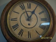 Antique Waterbury Andes 8 Day Wall Clock Oak Case Schoolhouse Style? | #342394606