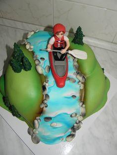 Cake Cookies, Cupcake Cakes, Cupcakes, Kayak Cake, Waterfall Cake, Retirement Parties, Novelty Cakes, Beautiful Cakes, Cookie Decorating