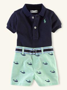 Polo & Schiffli Short Set - Outfits & Gift Sets  Layette Boy (Newborn–9M) - RalphLauren.com