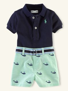 Polo & Schiffli Short Set - Outfits & Gift Sets   Layette Boy (Newborn–9M) - RalphLauren.com