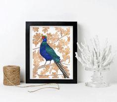 Watercolor Bird, Watercolor Paintings, Oak Leaves, Art Market, Fine Art Paper, Pet Birds, Wall Tapestry, Etsy Store, Gift Guide
