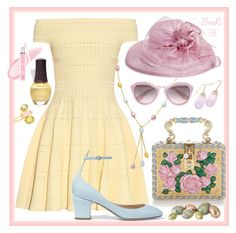 """Egg Hunt"" by barbmama ❤ liked on Polyvore featuring Alexander McQueen, Dolce&Gabbana, Valentino, FusionBeauty, SpaRitual, BillyTheTree, Prada, August Hat, Pippa Small and HappyEaster"