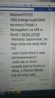 Mądry chłopak mecz ważniejszy niż ślub. Polish Memes, Funny Mems, Wtf Funny, Smile Everyday, Keep Smiling, Haha, I Am Awesome, Funny Pictures, Geek Stuff
