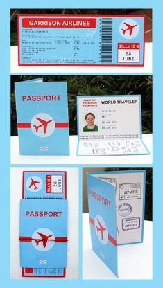 Passport invitation idea