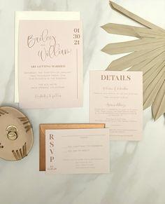 Printable boho wedding invitation template. Perfect for a modern DIY wedding!