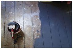 suelo madera pintado