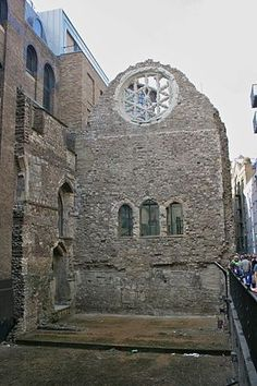 The remains of Winchester Palace, London.