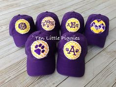 LSU Raggy Patch Monogrammed Preppy Baseball Cap on Etsy, $16.00
