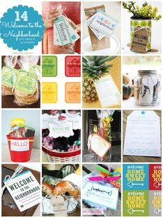 Welcome to the neighborhood gifts Easy Gifts, Creative Gifts, Homemade Gifts, Cool Gifts, Holiday Gifts, Just In Case, Just For You, Welcome Gifts, Favors