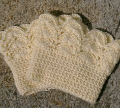 Boot Cuffs in Cream Crochet Boot Toppers Boot by CandacesCloset, $32.00