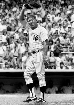 Image detail for -Baseball - Old Timers Day at Yankee Stadium, Mickey Mantle a