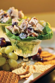 Serve this fruity, nutty chicken salad with assorted crackers and grapes for a filling lunch or a delicious brunch. Recipe: Chicken Salad with Grapes and Pecans Grape Recipes, Pecan Recipes, Cooking Recipes, Atkins Recipes, Cooking Tips, Chicken Salad With Grapes, Grape Salad, Chicken Salads, Meal Salads